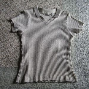 Vintage! Ribbed Top with Collar